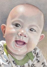 A little boy, 16.12.2015. Coloured pencils, A4.