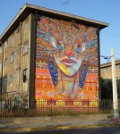 "12th mural ""Fiesta Nortina"" (Northern Ceremony) by Charquipunk-Larobotdemadera."