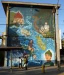 """6th mural """"Mitos y Leyendas"""" (Myths and Legends) by Soledad y Zofrenia"""