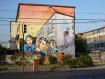 """1st mural """" Los Prisioneros"""" (The Prisoners) by Peña-Jano-Basti-Gesak-Hose-y amigos"""
