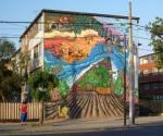 """5th mural """"Trabajadores"""" (Workers) by Hose y 12 Brillos"""