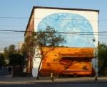 """16th mural """"Tala"""" (Logging) by Agotok (Pato y Santiago)"""