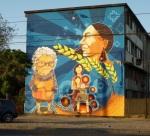 "2nd mural ""Mujeres"" (Women) by La Mano (Basti y Jano)"