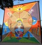 """4th mural """"Indigenas"""" (Aboriginals) by Aislap (Rucio y Pablo)"""