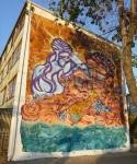 """14th mural """"Seres de luz"""" (Beings of light) by Pobre Pablo-y York"""
