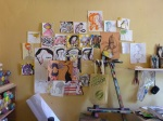 The sketches on the walls were mostly Jekse's, often doodled rapidly and many in one go.