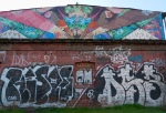 Saile, Aislap (the piece at the top). Rivas, Sector Franklin, comuna San Miguel. (Photo TK 07-08/2010)