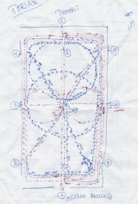 I drew a detailed map of the dressage course.