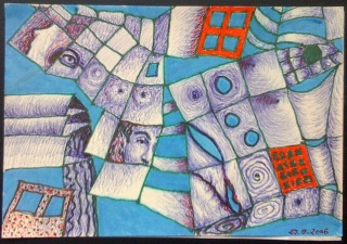 This one I drew with whatever pens available during the lectures of a leadership course in 2008