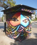 The kiosk with eyes