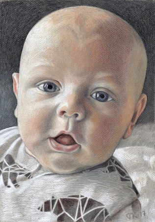 Baby boy 2.12.2017. Colored pencils A4.